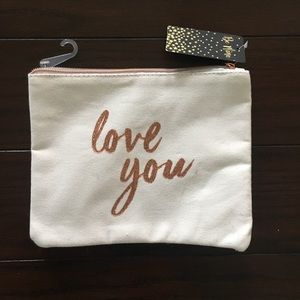 Love You Canvas Clutch